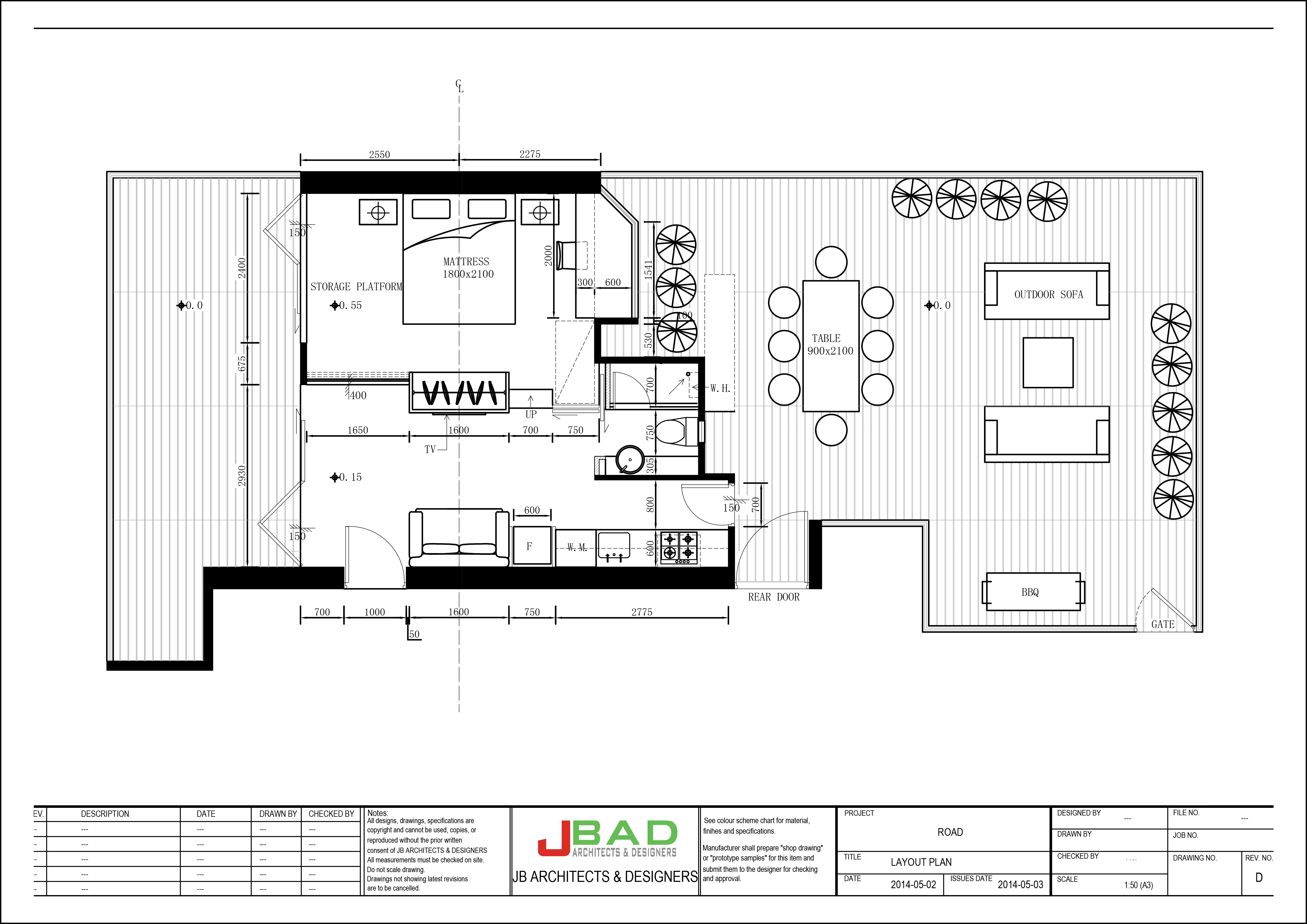 Proposed Floor Plan For Interior Design U2013 Mid Levels, Hong Kong.